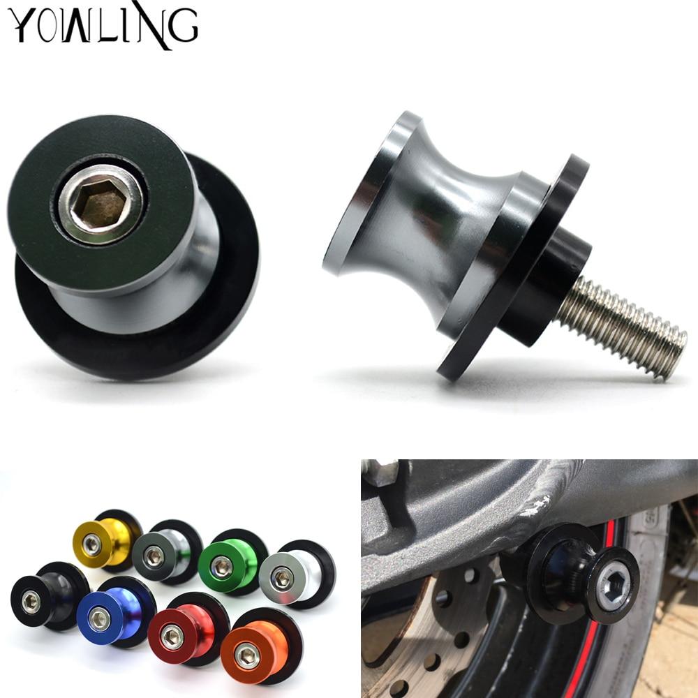Soportes de motocicleta de aluminio Swingarm Spools tornillos de soporte deslizante para SUZUKI GSXR 600/750 GSXR600 GSXR750 2006-17, GSXR1000 2009-16