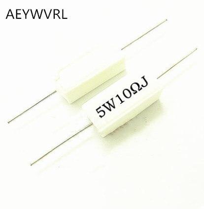 5 Вт цементный резистор 0,1 ~ 10k ohm 0,22 0,33 0,5 1 10 100 1K 10K ohm 5W 0.1R 0.22R 0.33R 0.5R 1R 6.8R 10R 20R 100R 1K