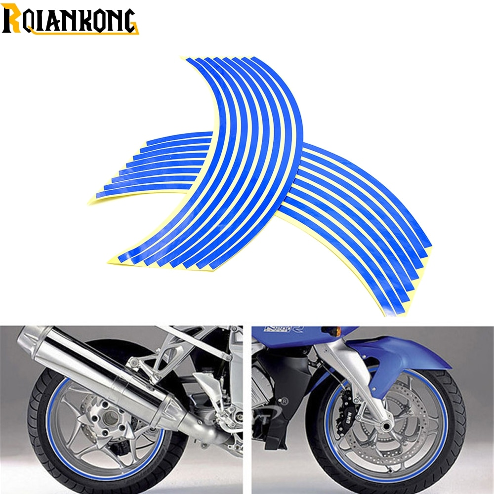For Kawasaki ZX636R ZX6RR ZX636R ZX6RR(599cc) ZX7RR ZX9  motorcycle sticker Colorful motor wheel stickers Reflective Rim Strip