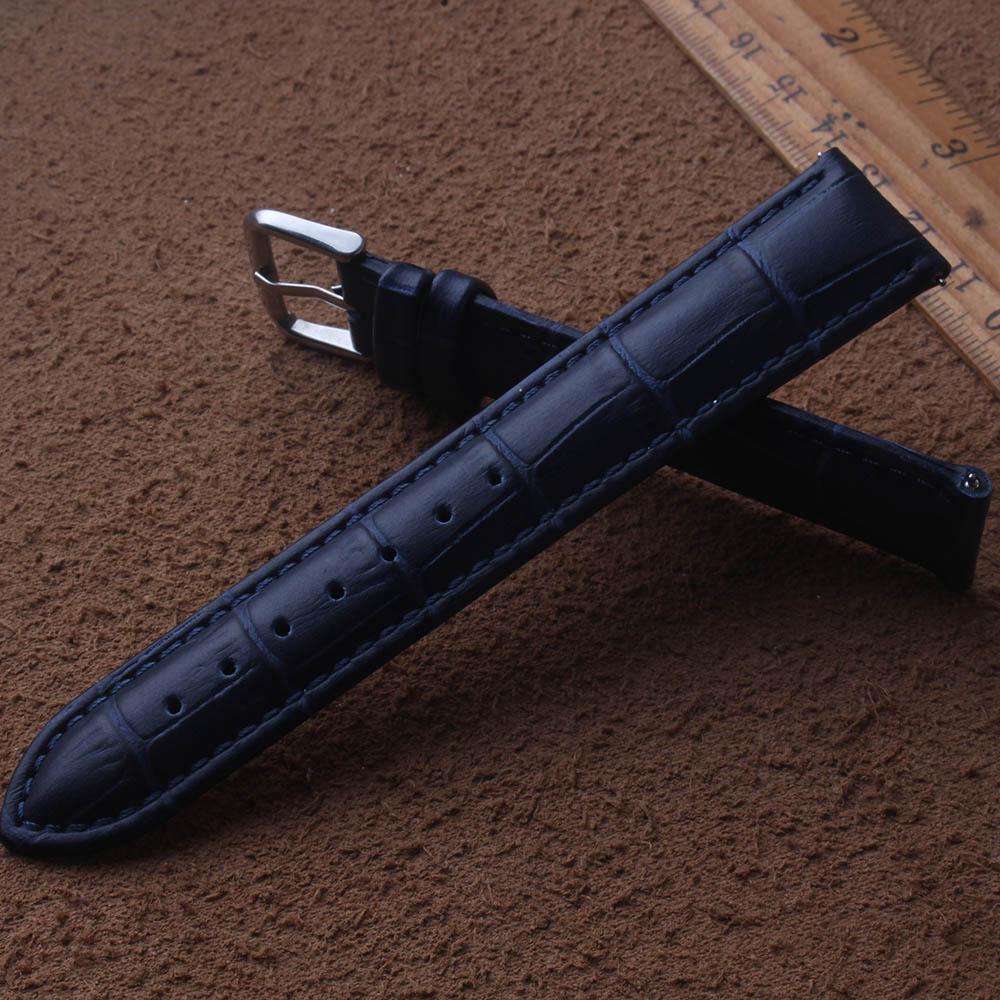 Ремешки для часов темно-синего цвета, 14 мм, 15 мм, 16 мм, 17 мм, 18 мм, 19 мм, 20 мм, 21 мм, 22 мм, 23 мм, 24 мм, высококачественные аксессуары для часов для мужчин и женщин