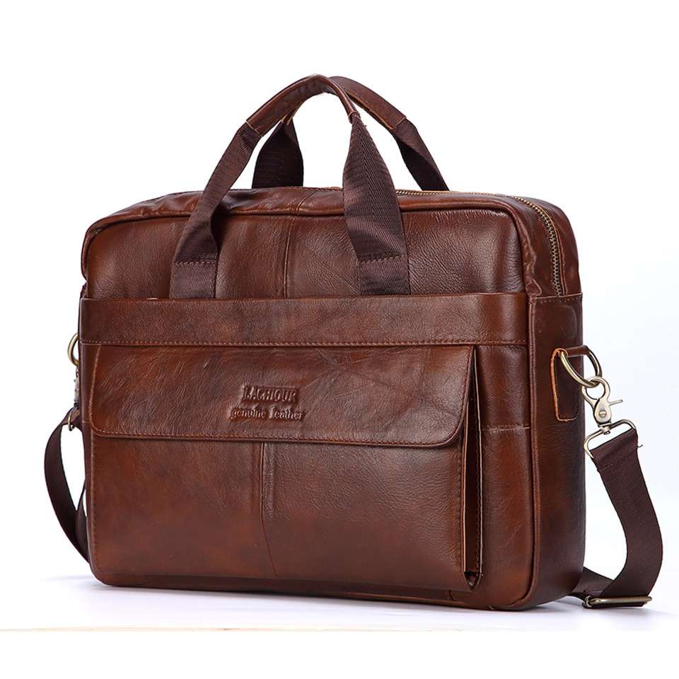 Men Genuine Leather Handbags Casual Leather Laptop Bags Male Business Travel Messenger Bags Men's Cr