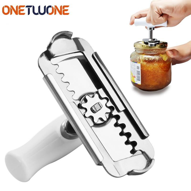 Регулируемый консервный нож крышки из нержавеющей стали Консервный нож открывалка для бутылок Консервный нож для 1-4 дюймов кухонный гаджет