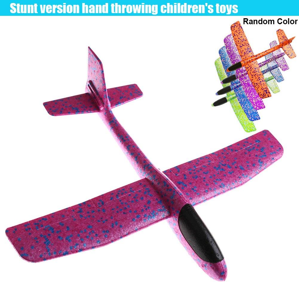 Aviones de lanzamiento a mano, juguetes de espuma EPP, lanzamiento duradero al aire libre, avión planeador, rompecabezas, modelo de juguetes para niños