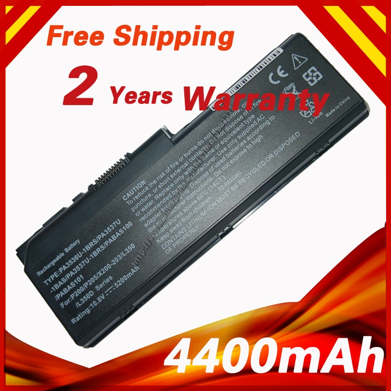 4400mAh Bateria para Toshiba PA3536 PA3536U PA3536U-1BAS PA3536U-1BRS PA3536U-1BAS PA3536U-1BRS PA3537 PA3537U PA3537U-1BAS