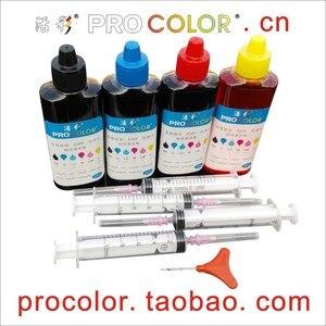 63 Dye ink refill kit for HP63 DeskJet 2136 2133 3631 3635 3636 3637 3638 office 3830 3834 4650 4652 4654 4655 5252 5258 Printer