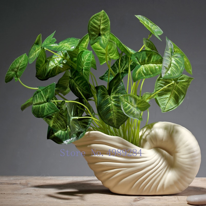 Nordic ceramics conch vase Artificial flower Flower arrangement Home modern Decorative ornaments Creative flower vase