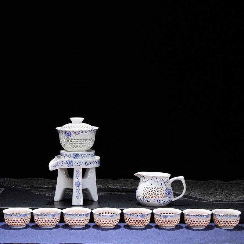 2017 creativo juego de té de cerámica venta directa de fábrica de nido de abeja sunshine té automático set caja de regalo al por mayor