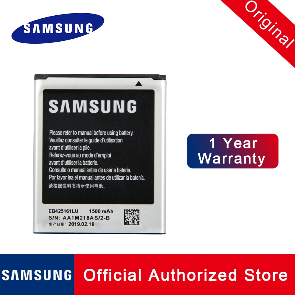 Оригинальная запасная батарея EB425161LU для Samsung Galaxy s3 mini ace 2 i8160 Trend Duos s7562 8190 1500 мАч Быстрая доставка