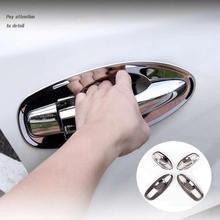 ABS cromado 8 Uds ajuste para XTRAIL X-TRAIL T32 2014-2020 coche cromo moldura puerta manija cubierta de cuenco embellecedor bisel Marco de estilismo