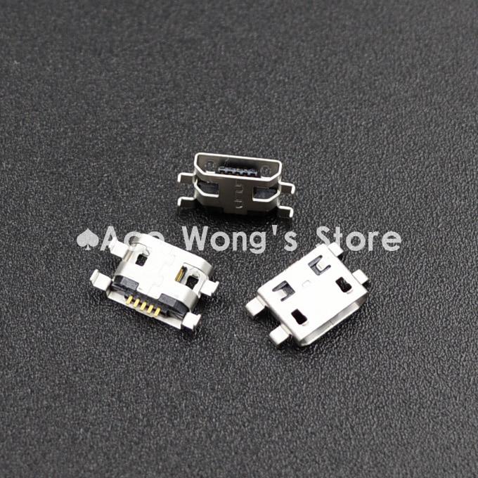 10 piezas Micro USB 5pin tipo B conector hembra conector de boca plana 0,8 conector para enchufe de carga de teléfono móvil (USB-4)