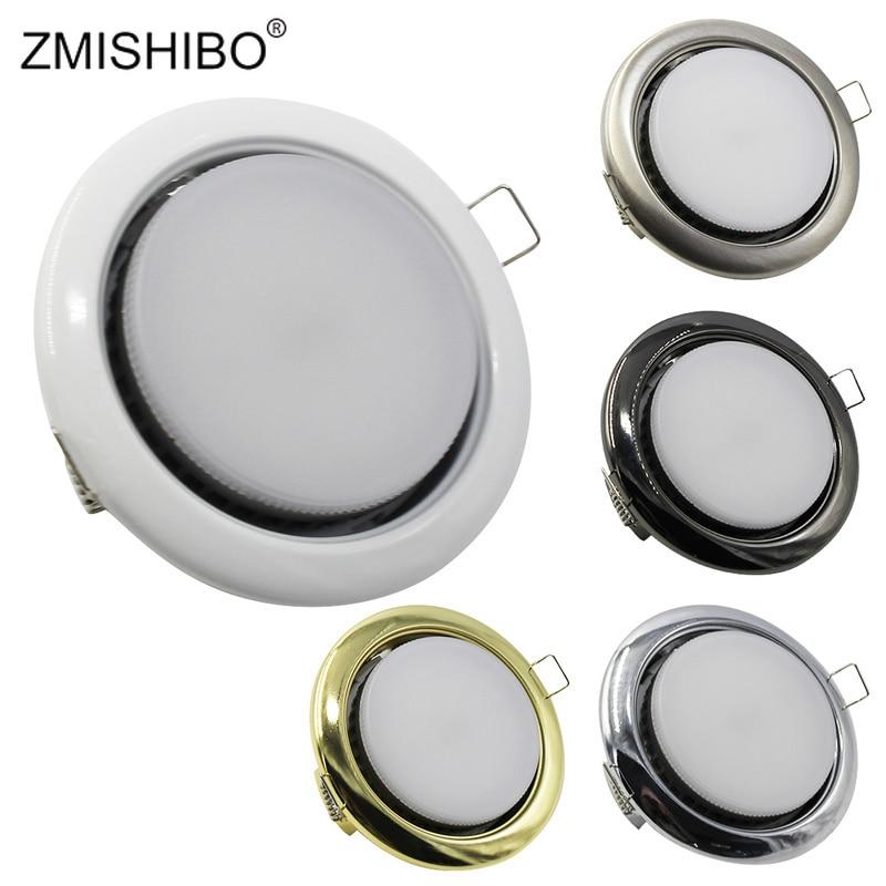 ZMISHIBO Spot Led Downlight Lamba Yuvarlak Gömme 8 W 110-240 V 90mm Delik Alüminyum GX53 Işık kaynağı 3000 K/4000 K/6000 K
