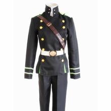 brdwn Seraph of The End Unisex Yuichiro Hyakuya Cosplay Costume amy uniform suit (top+pants+belt+shouder girdle)
