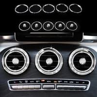 15x diamond front air outlet trim ring cover for mercedes benz glc class x205 2016 2017 c class w205 2015 2017