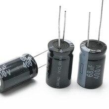 5 pcs/lot 400V 68UF 16*25 20% condensateur électrolytique en aluminium RADIAL 68000NF 20%