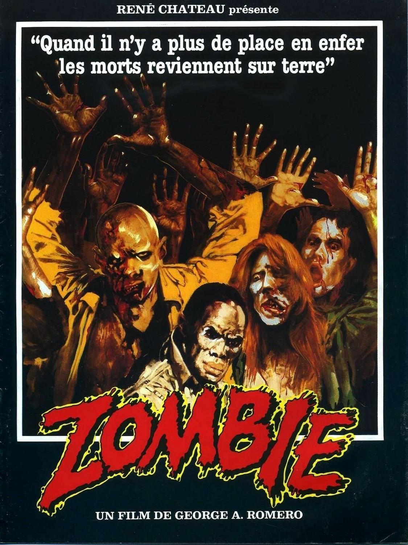 El Amanecer de los muertos de la película George Romero Zombies N1445, póster de tela de seda brillante para decoración de interiores