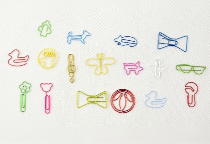 randomly mixed multicolour 20 different paper clips