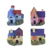 Miniature European Country Villa House Housing Micro Landscape Creative arts crafts Resin Decoration Fairy Garden Decoration