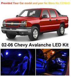O envio gratuito de 12 pçs/lote carro-estilo premium pacote kit led luzes interiores para chevrolet avalanche 2002-2006