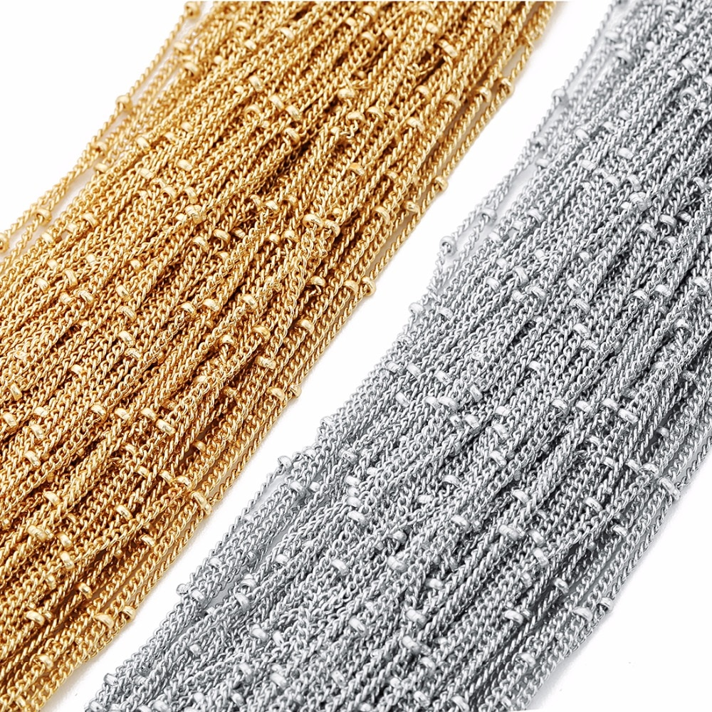 aliexpress.com - 5 Meters Bead Chain Necklace Chains Twisted Chains Satellite Cable Link Chain Bulk For DIY Anklet Necklaces Bracelet Wholesale