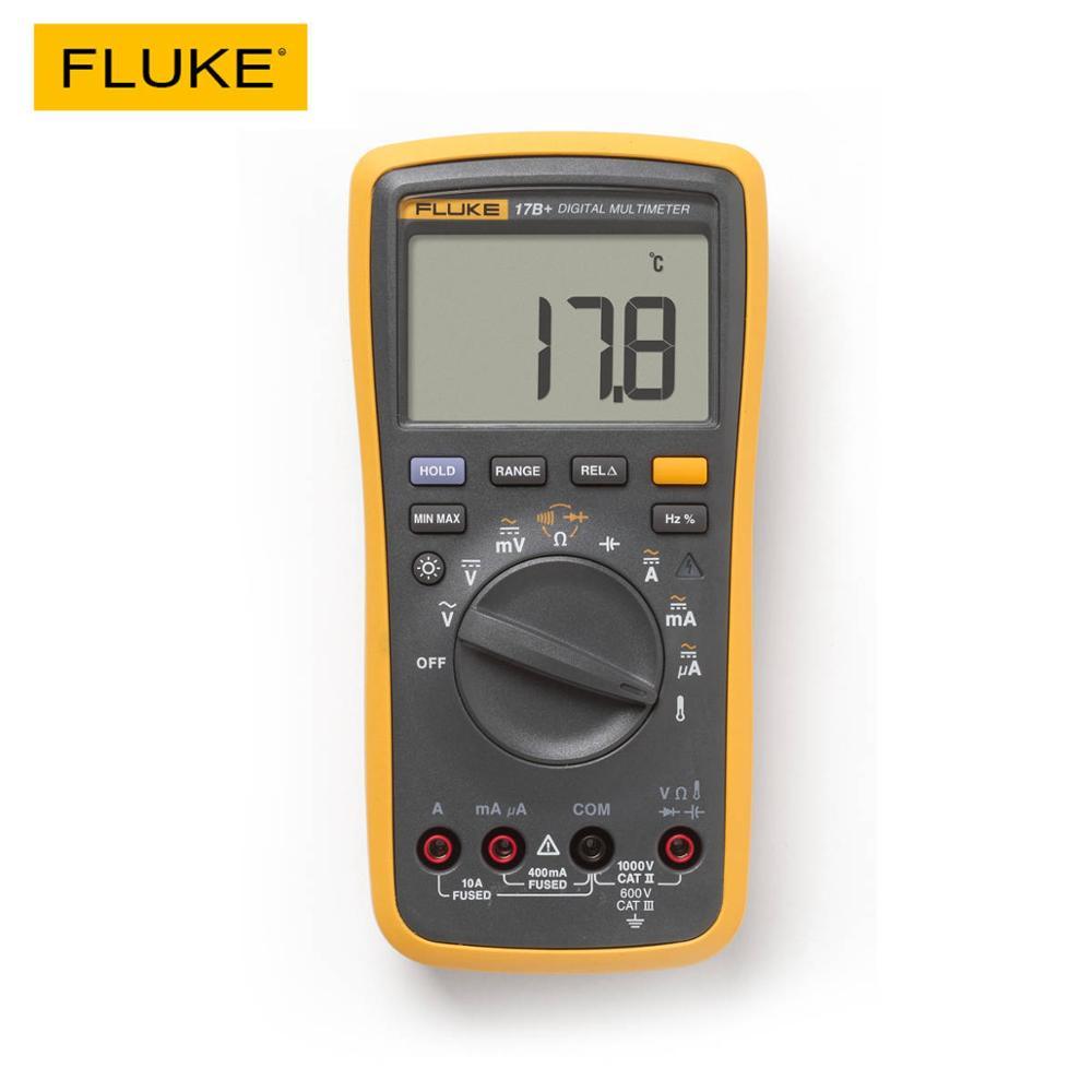 FLUKE 17B + цифровой мультиметр AC/DC напряжение тока Емкость Ом тестер температуры Авто/ручное измерение диапазона