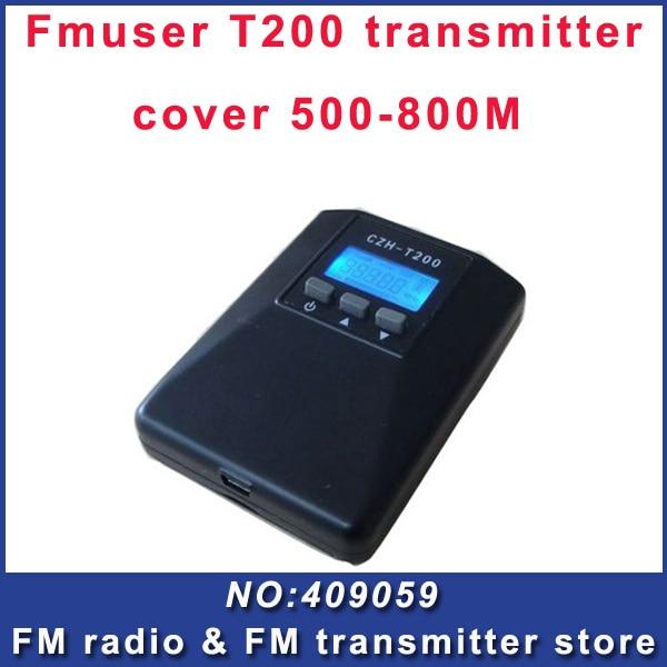 Venta caliente T200 mini transmisor FM radio buena voz para la escuela
