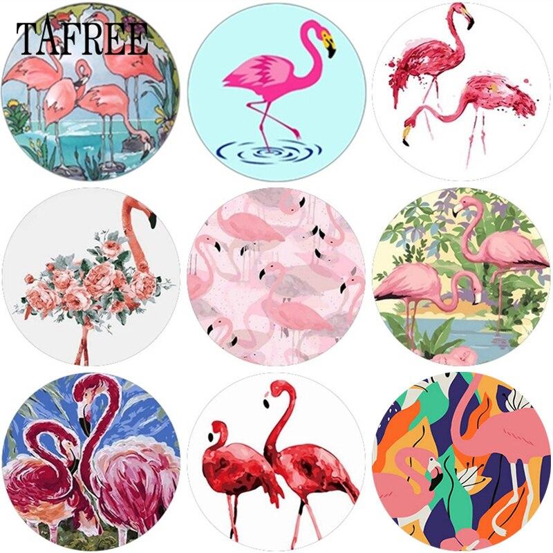 Tafree flamingo foto de vidro cabochon demo 12mm/15mm/16mm/18mm/20mm/25mm de vidro redondo cabochon liso volta fazendo descobertas