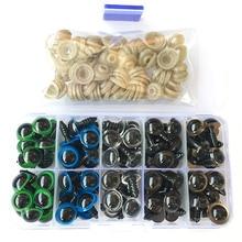 50 paires 10mm/12mm mélange couleur plastique sécurité yeux de haute qualité mignon pour ours en peluche jouets en peluche Snap animaux poupées cadeaux avec prise