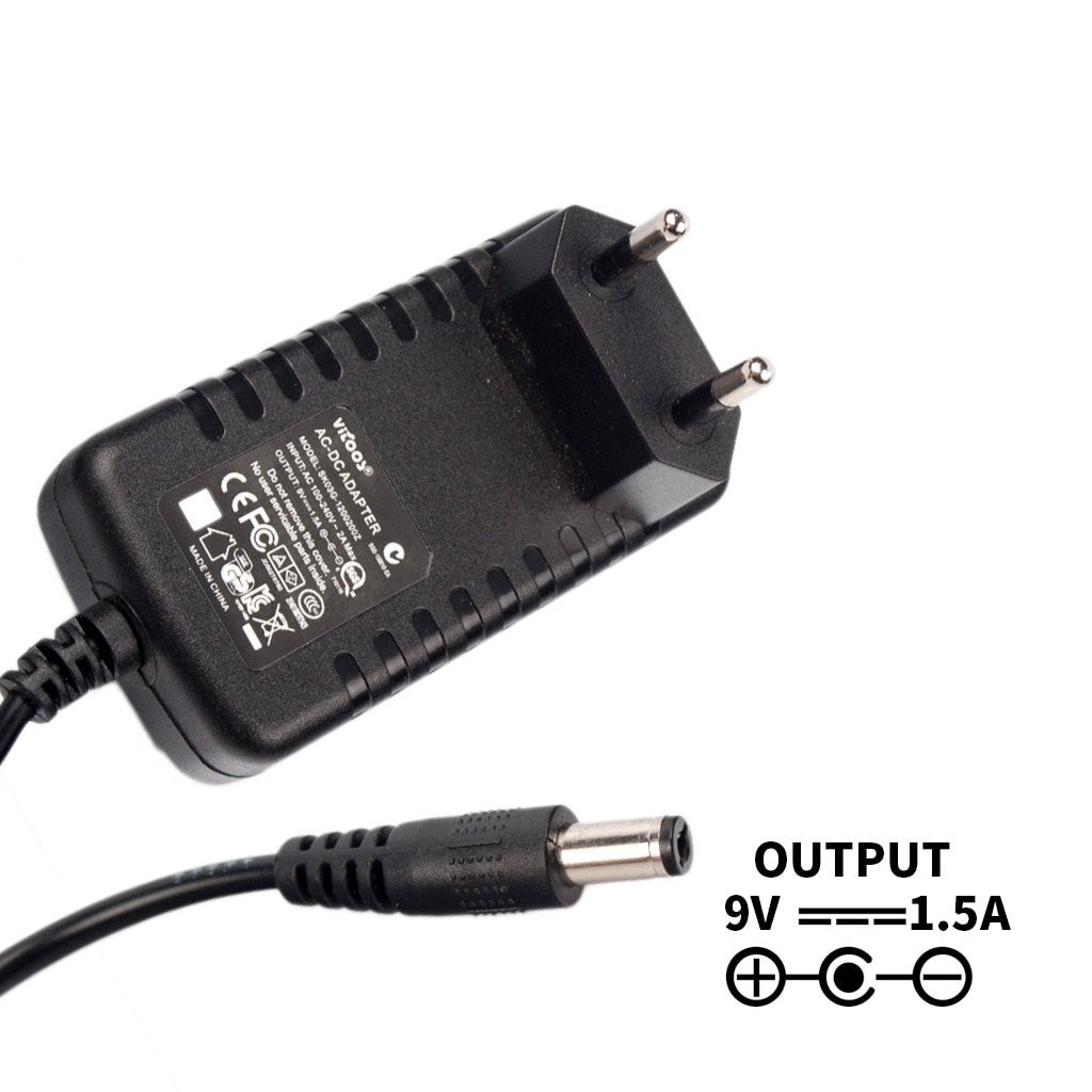 9V 1.5A EUR Plug Guitar Effect Device Pedal Power Supply Power Charger Guitar Accessories For Guitar Effect Pedal 2pcs 3 5mm positive polarity guitar effect pedal converter lead cable for power supply