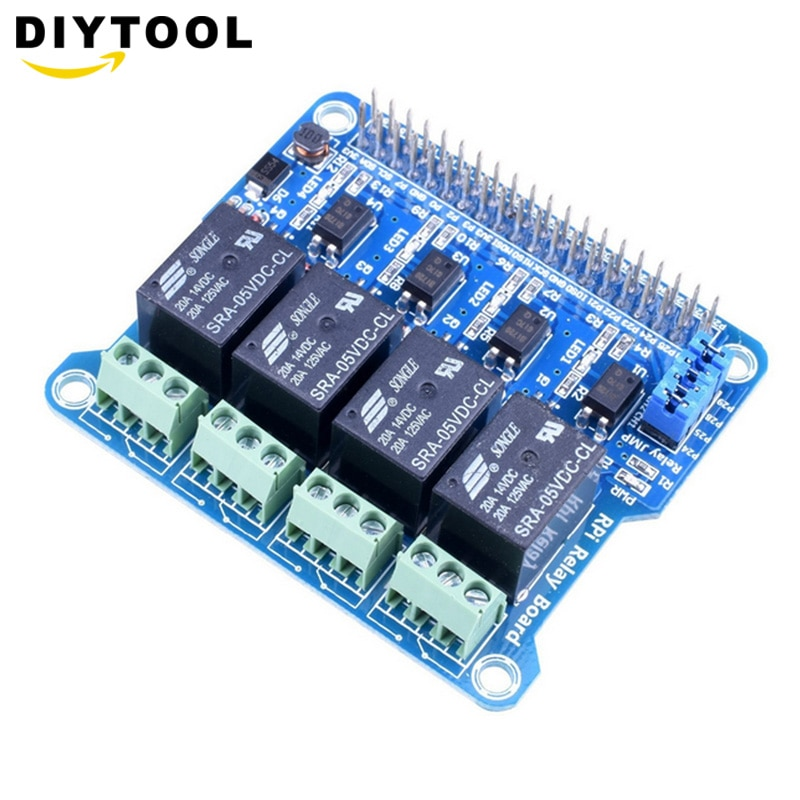 1PCS Raspberry Pi Power Relay Board Expansion Module Shield Supports RPi A+/B+/2 B/3 B for Home Automation Intelligent 1pcs pm20csj060 module using intelligent power modules in stock new