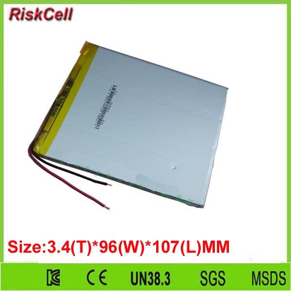 Free shipping 100pcs/lot  3.7V 4000mAh Polymer Li battery For GPS PDA iPAQ DVD PSP iPod Tablet PC 3496107