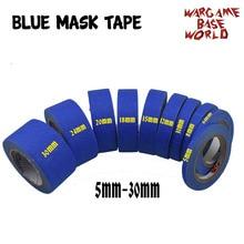 2 conjunto de fita de máscara azul 12 m-pinte especial modelo fita de máscara especial 5-30mm modelo hobby ferramentas de pintura acessório