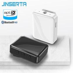 Jinserta receptor bluetooth 4.0 aptx adaptador sem fio para o carro tv fones de ouvido alto falantes 3.5mm aux receptor de áudio bluetooth