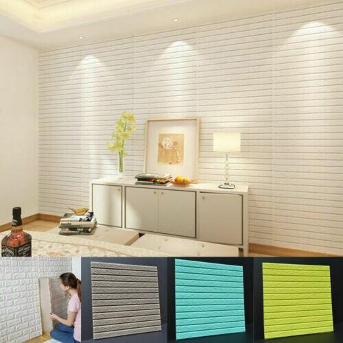 PE espuma 3D XPE ladrillo impermeable decoración de pared del hogar Pegatina autoadhesiva Panel impermeable papel pintado DIY