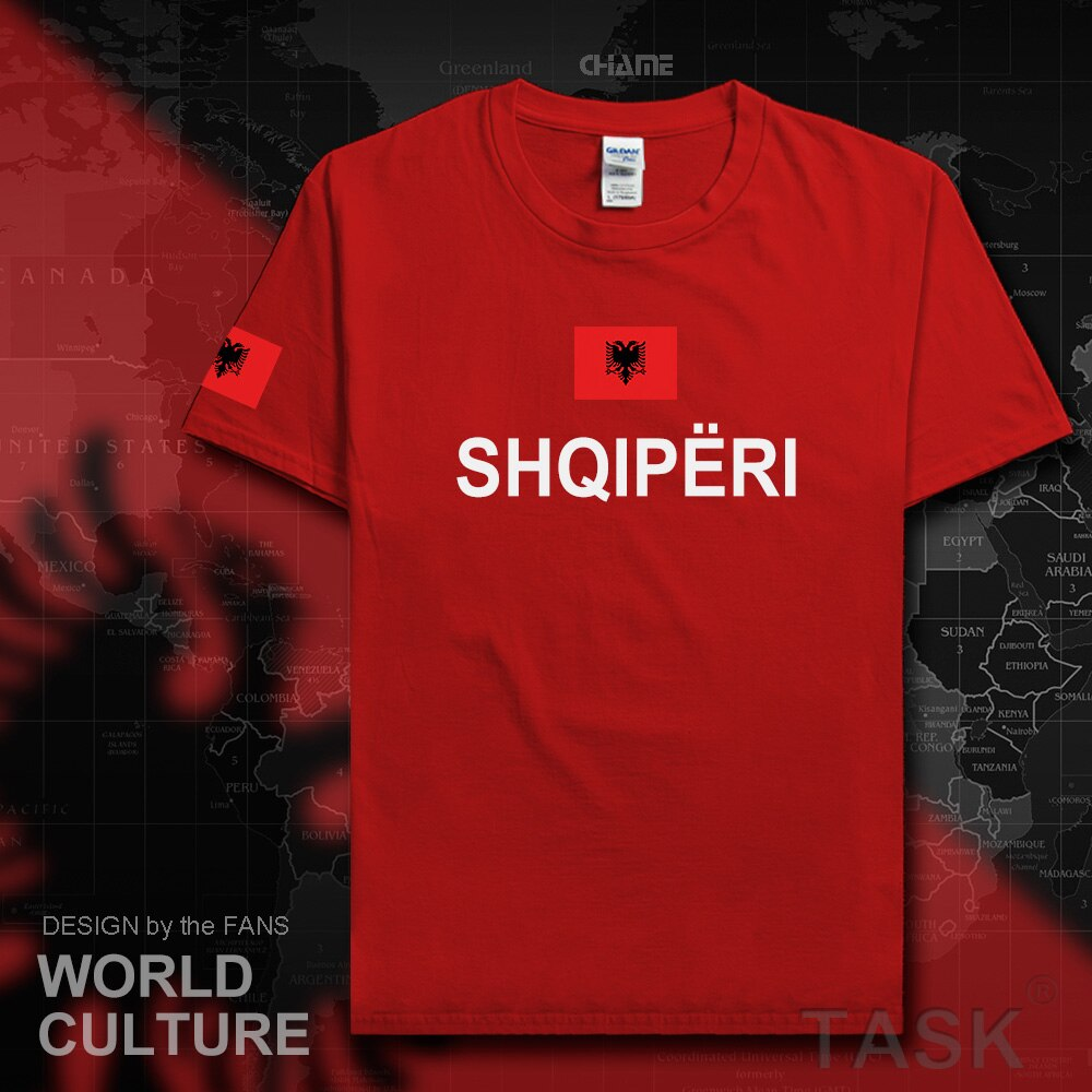 Republic of Albania ALB Albanian men t shirts fashion 2017 jersey nation team 100% cotton t-shirt clothing tees country sporting