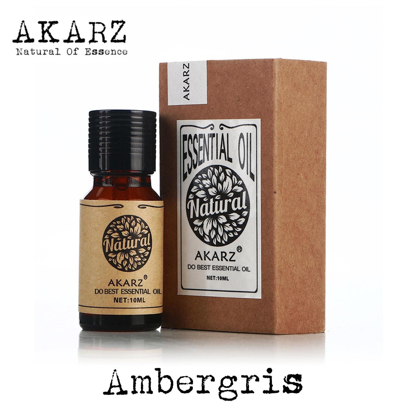 Akarz marca famosa natural aromaterapia ambergris óleo essencial perfume matérias-primas ambergris óleo