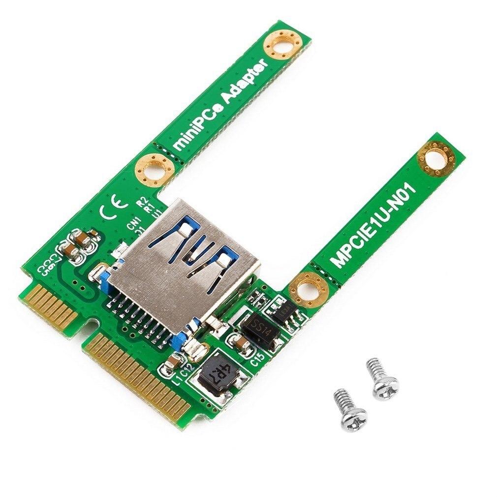 Verde 51*29*7mm 4g Mini PCI-E Tarjeta de la ranura de expansión a interfaz USB 2,0 tarjeta de expansión de adaptador electrónico Compatible con USB1.1