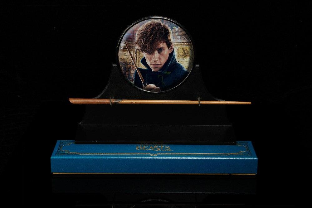 Nuevo núcleo metálico HP Magic wand Scamander Magic Fantastic Beasts Graves Newt caja de regalo embalaje gratis billete de tren