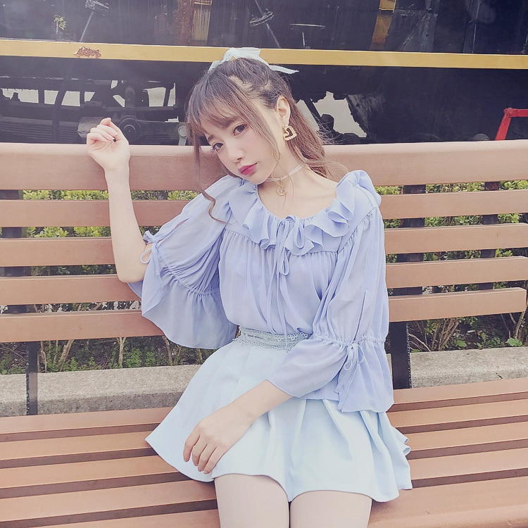 Princesa dulce lolita Bobon21 lolita estilo sólido encaje gasa falda Super all-match wear falda no fácil de exponer B1455