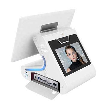 Dispositivo de reconocimiento facial de pantalla táctil dual de 15,6 + 9 pulgadas para gestión de visitantes