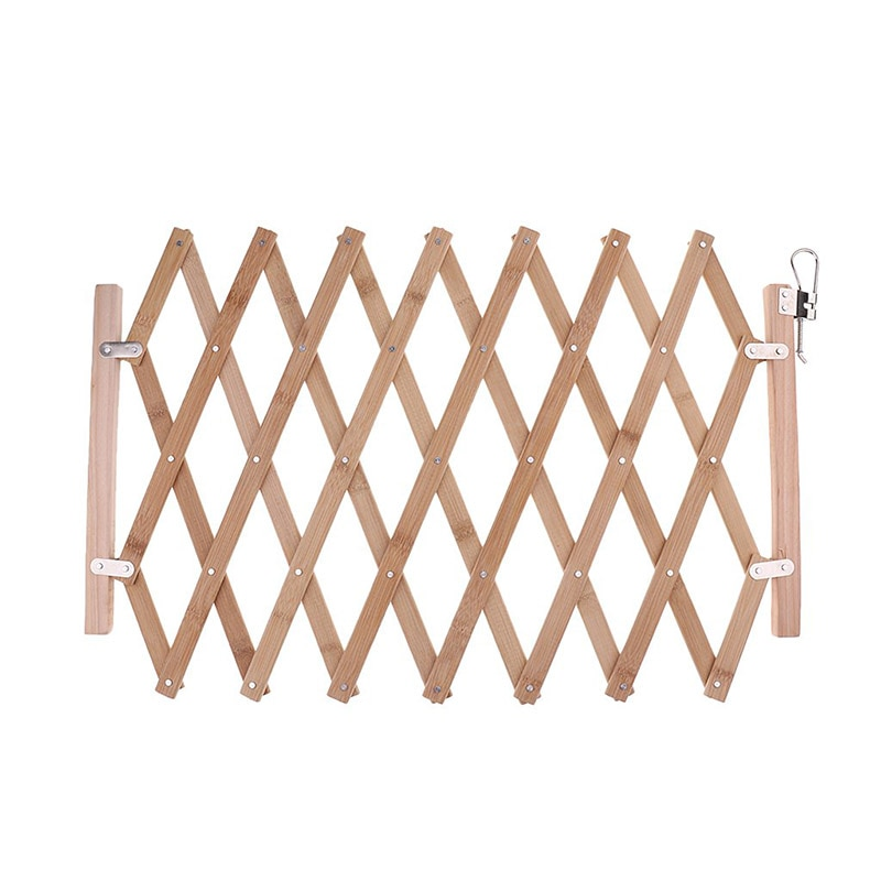 Stair Gate Dog Guard Pet Portable Indoor Wood Barrier Protectors Home Doorway Room Adjustable length 60-110cm TB Sale