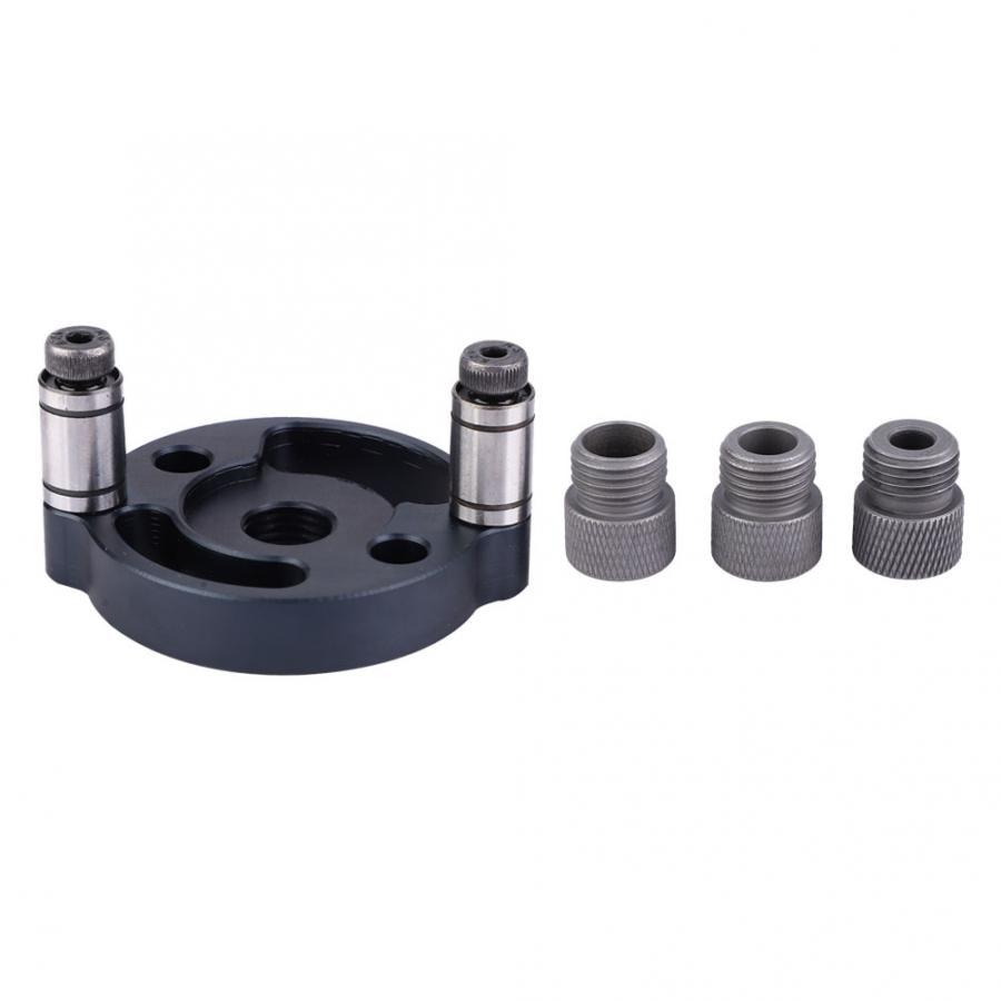 6mm 8mm 10mm pasador Jig Panel de madera perforadora guía de perforación localizador herramienta de carpintería 3 piezas de perforación casquillo