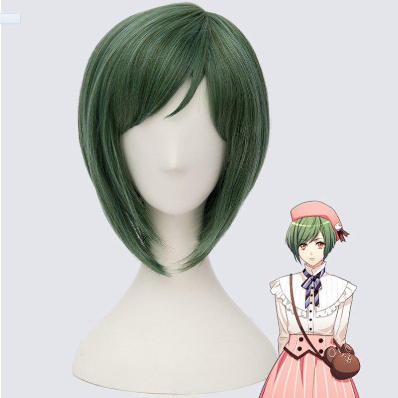 ¡Nueva gira de mano A3! Cosplay Yuki Rurikawa, pelucas de Cosplay, peluca sintética resistente al calor, pelucas de pelo de fiesta de Carnaval de Halloween + gorro de peluca