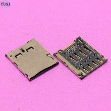 YuXi 2 pièces Sim lecteur de carte titulaire slot connecteur de prise pour ASUS K004 mémo Pad 7 ME170 ME170C K012 pour Samsung C101 I8730