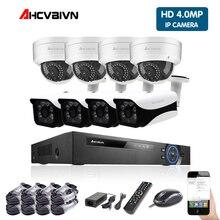 AHCVBIVN 5MP POE NVR Kit 4.0MP HD CCTV système de caméra de sécurité moniteur Audio caméra IP P2P système de Surveillance vidéo extérieur