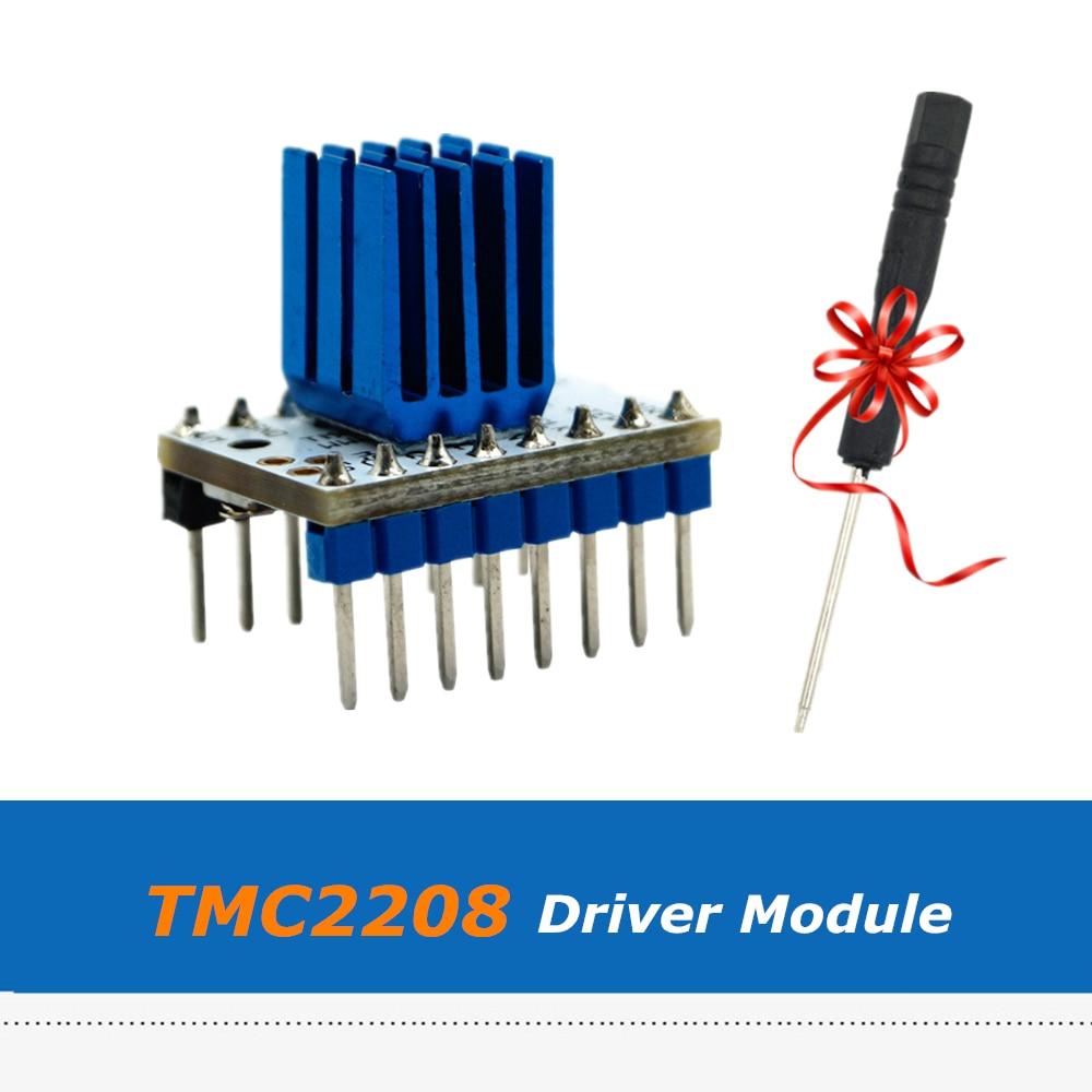 Piezas de impresora 3D Super silencioso TMC2208 módulo controlador de Motor paso a paso con disipador de calor