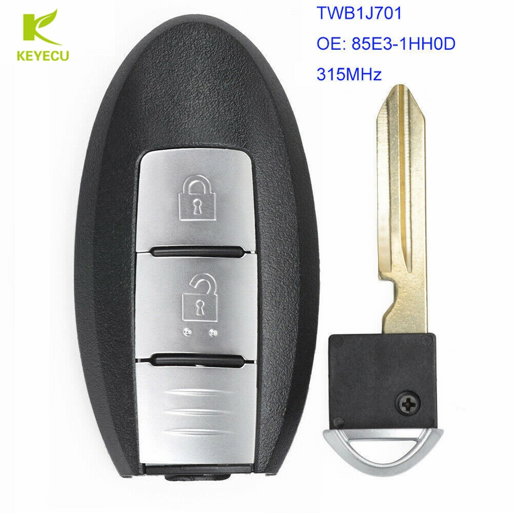 Reemplazo KEYECU inteligente transmisor remoto clave Fob 315MHz ID46 para Nissan Micra K13 DE MARZO DE K13 hoja 2012-2016 TWB1J701