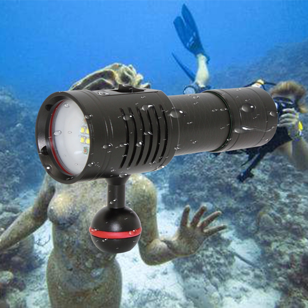 3000LM 4x XP-G2 White + 2x XPE Red LED Diving Flashlight Scuba Video Photography Waterproof Light Torch Dive Underwater Lamp waterproof 14led portable diving light torch underwater led photography video dive flashlight lamp
