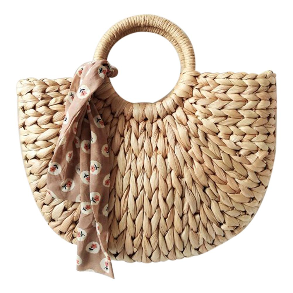 DCOS-женская сумка Корейская иностранная из кукурузной кожи полукруглые художественные пляжные сумки путешествия фото реквизит соломенная сумка луна сумка новая