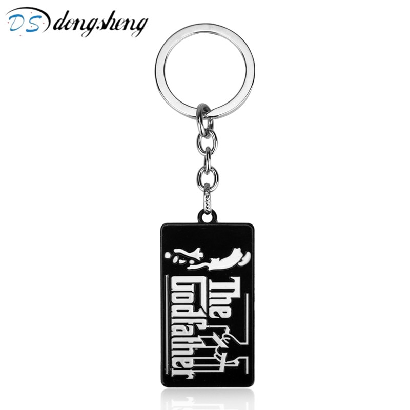 Hot Film The Godfather Black Metal Keys Chains for Male Men God Father Keychain Unisex Key Holder Chaveiro Llaveros -50