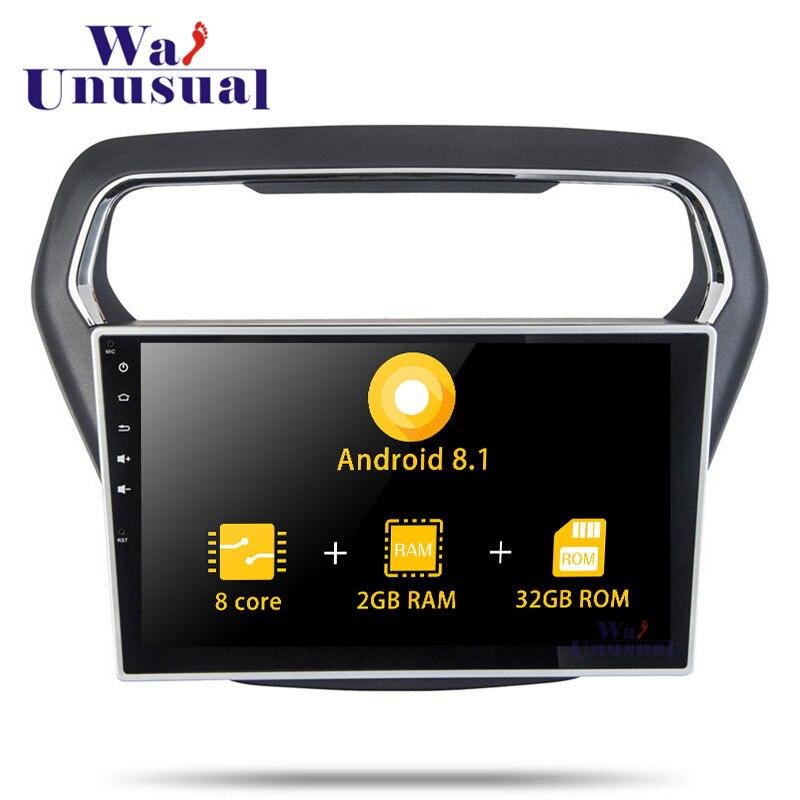 Autoradio Android 8,1 de 10,1 pulgadas Octa Core GPS para coche de navegación para Ford Escort 2014 2015 estéreo 2016 con BT WIFI mapas SIN DVD 2din